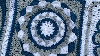 Crochet Flora Afghan - Lilies in August Square