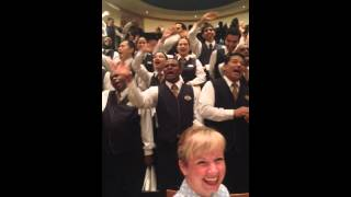 RCCL Adventure of the seas, somewhere in the caribbean whilke the staff entertain guests. 2014