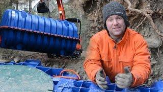 Underground POTABLE WATER STORAGE TANKS - Our Off Grid Water System