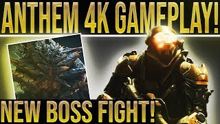 4K NEW ANTHEM GAMEPLAY! Mission Boss Fight, Colossus, Weapons, Abilities, Loot And More!