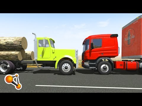 BeamNG.Drive - Head-on Impact Crashes Epic