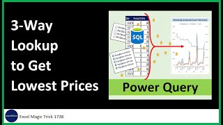 Power Query: Lookup 3 Lowest Prices from 3 Criteria Lookup Table. Excel Magic Trick 1738.