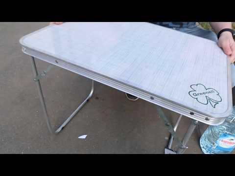 Стол складной Greenell «FT-12 R16 WR». Видеообзор.
