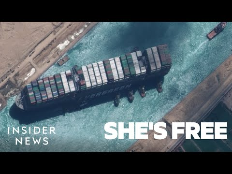 How the Stranded Ship in the Suez Canal Was Freed