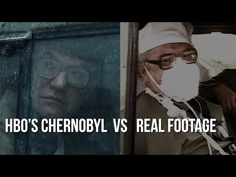 An amazing side-by-side comparison of scenes from HBO's Chernobyl with state footage from the disaster.