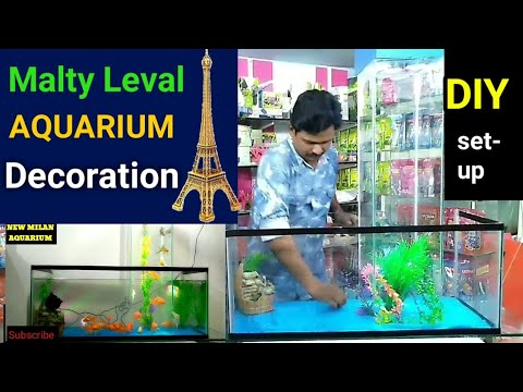 How to build unique multi level aquarium | FISH AQUARIUM DECORATION IDEAS FISH TANK DECORATION IDEAS