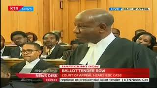 Ballot Tender Row: Court of appeal hears IEBC case