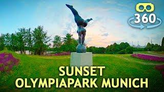 Timelapse Sunset Olympiapark Munich 360º 4K #VirtualReality #HDR #360Video #VR #360