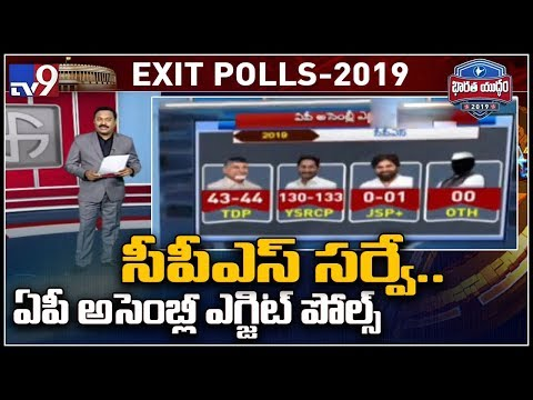 Exit Polls CPS survey predicts 130 seats to YCP
