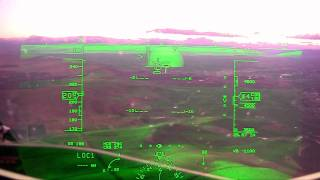 Rockwell Collins Head-up Guidance (HGS) with Synthetic Vision