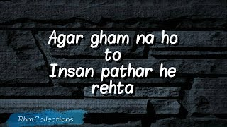 Gham Status || Urdu quotes status || Rhm.collections