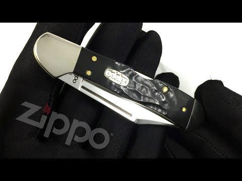 50623 Нож перочинный Zippo Rough Black Synthetic Mini CopperLock, 92 мм, чёрный