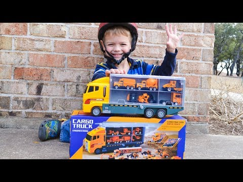 Garbage Truck Videos For Children l Garbage Trucks Rule l Unboxing Construction Truck Car Carrier