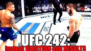 UFC 242 (Khabib Nurmagomedov vs Dustin Poirier): Reaction and Results