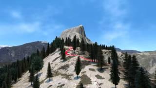 3D Fly Through of Yosemite Valley - Blender