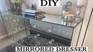 DIY | Mirrored Dresser Transformation