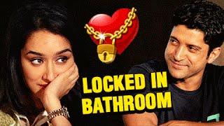 Farhan Akhtar Shraddha Kapoor's HOT Bathroom Act in Baaghi Success Party