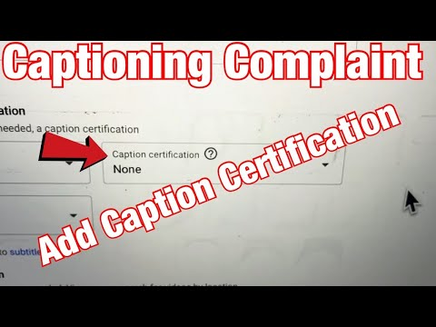 How to Add Caption Certification on YouTube Video (Captioning ...
