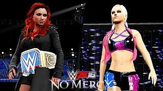 WWE No Mercy 2016: Becky Lynch vs Alexa Bliss (SmackDown Women's Championship)