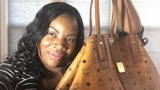 MCM Large Liz Reversible Shopper Tote 1 Year Review Part 2