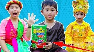 Trò Chơi Sự Tích Quả Dưa Hấu Và Kẹo Singum Bigbabol Shapeez - Bé Nhím TV - Đồ Chơi Trẻ Em