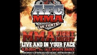 AFC MMA: Erik Farmer vs Chris Cornelius (155lb Title Fight)