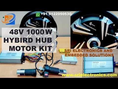 48V 1000W BLDC Hub Motor For Scooty 10 -Drum Brake  Inch