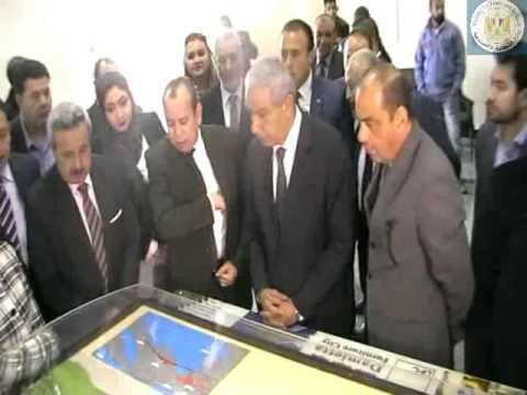 الوزير/طارق قابيل يتفقد الأعمال الإنشائية بمدينة الأثاث الجديدة بدمياط
