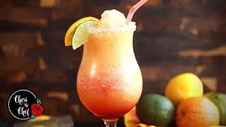 Frozen Tequila Slush  🍹  Margarita Sunrise