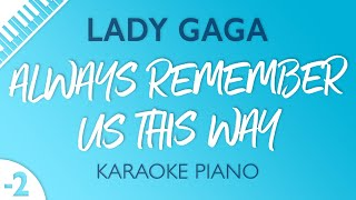 Always Remember Us This Way (Lower Key   Piano Karaoke) Lady Gaga