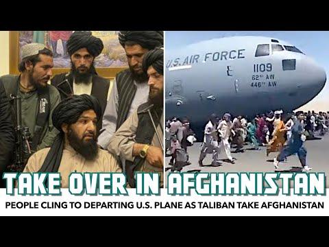 People Cling To Departing U.S. Plane As Taliban Take Afghanistan