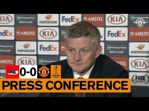Post Match Press Conference | AZ Alkmaar v Manchester United | Ole Gunnar Solskjaer