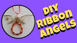Angel Ornaments To Make With Ribbon And Beads