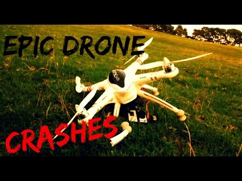 Funny Drone Crashes