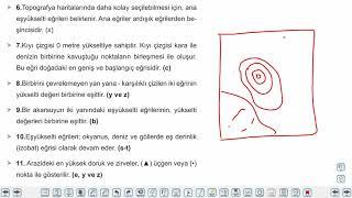 Eğitim Vadisi TYT Coğrafya 4.Föy Harita Bilgisi 4 (İzohips Yöntemi) Konu Anlatım Videoları