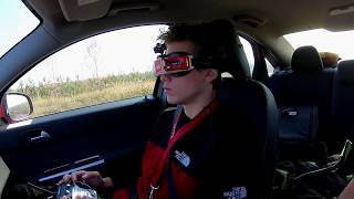 Chasing Volvo S40 with racing drone