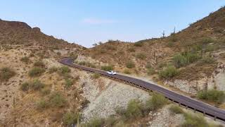 Driving up South Mountain in FPV mode