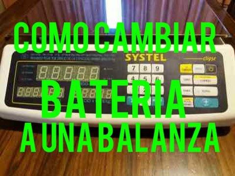Tutorial | Como Cambiar la Bateria de una Balanza Electrónica SYSTEL