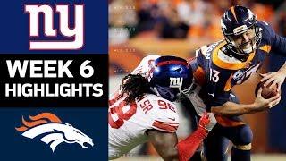 Giants vs. Broncos | NFL Week 6 Game Highlights
