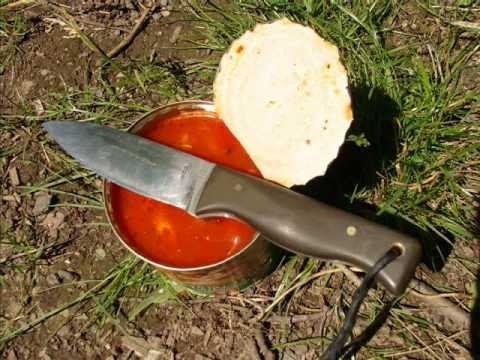 Otevření konzervy nožem