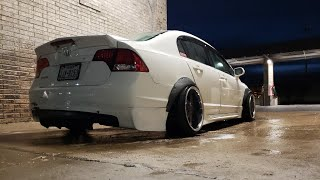 W Fender Flares Civic Hatch Aero