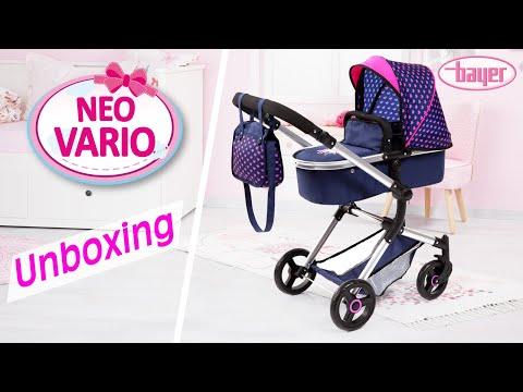 Puppenwagen - Neo Vario - Dolls Pram - Aufbauvideo - Unboxing - Bayer Design