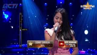 "Hanin Dhiya ""Perahu Kertas"" Maudy Ayunda - Rising Star Indonesia Great 8 Eps 20"