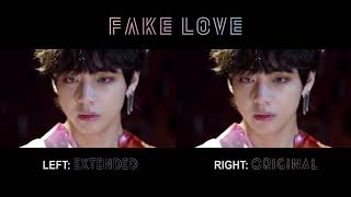 FAKE LOVE - BTS | Split Audio Original Vs Extended Ver. (Rocking Vibe Mix)