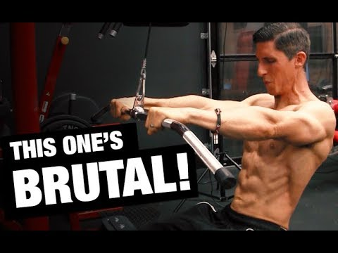 Cable Standing Overhead Crunch (multi-exercise bar)