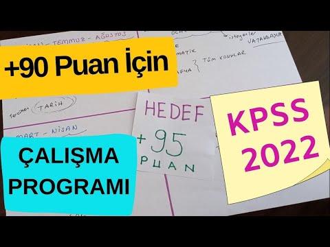 KPSS 90 ÜSTÜ PUAN için Çalışma Programı | LİSANS ÖNLİSANS ORTAÖĞRETİM #KPSS2022 #KPSS