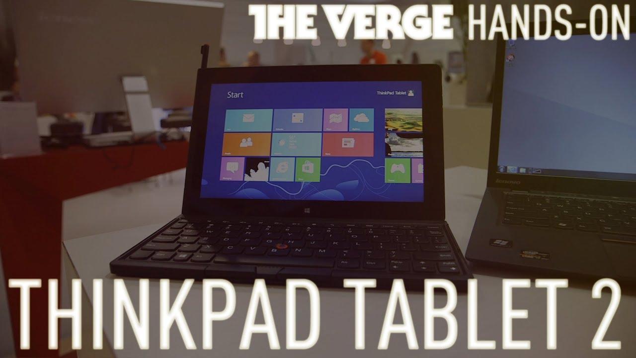 Lenovo ThinkPad Tablet 2 hands-on demo thumbnail