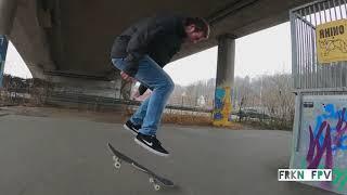 Skateboard FPV Drone chase!