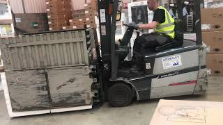 Forklift With  Clamps Training