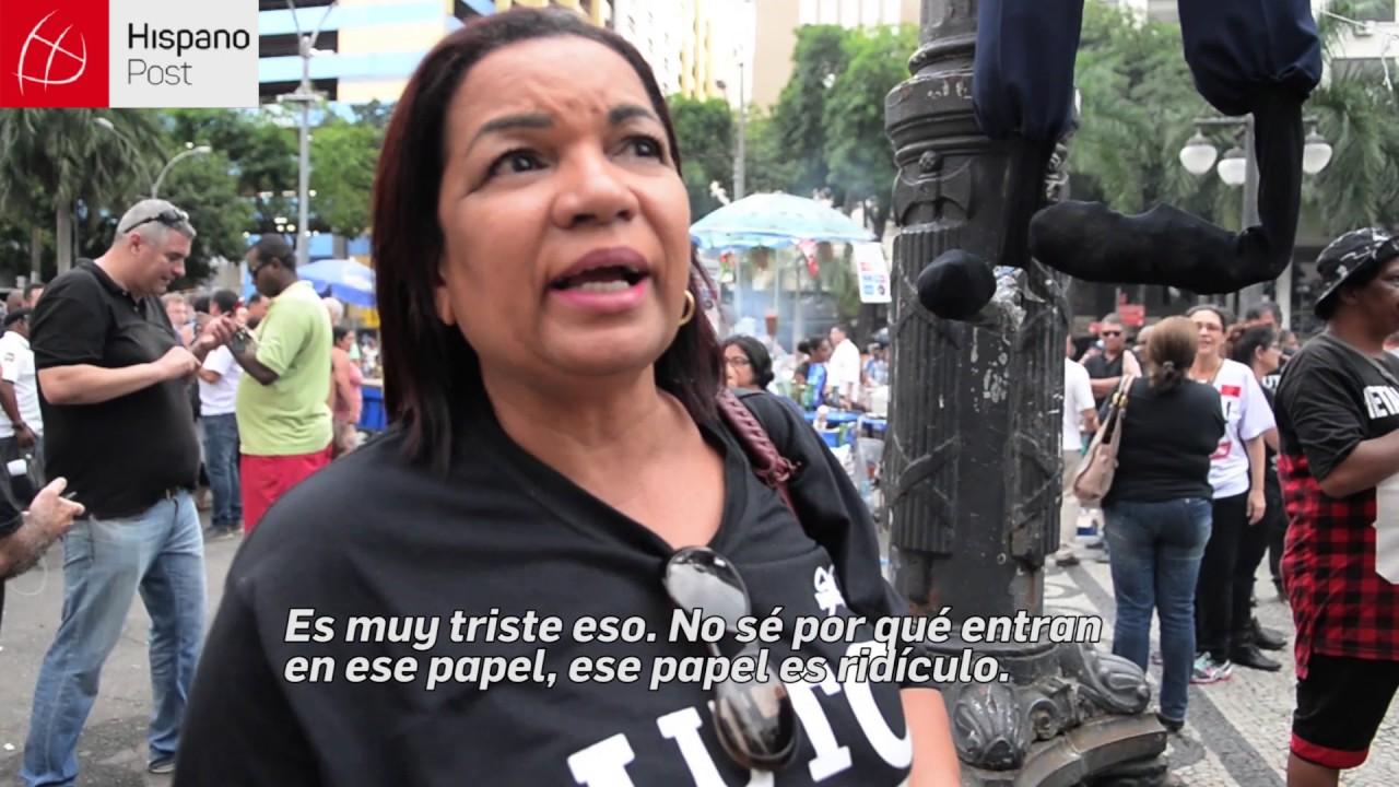 Protestas por medidas anticrisis en  Brasil